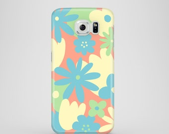 Pastel Floral mobile phone case / summer samsung galaxy S7 case / Samsung galaxy S6 / Samsung Galaxy S6 Edge / Galaxy S5