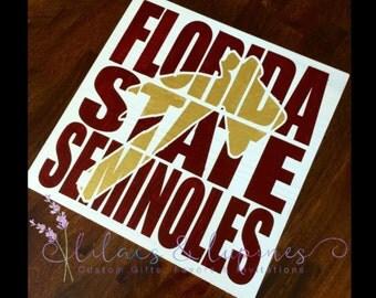 Florida State Seminoles Sign - FSU Sign - Noles Sign - Hand Painted Sign - Painted Sign - Wooden Sign
