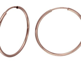 1 Pair 16 mm Hoops 14K Rose Gold Filled Endless (RGF4003808)