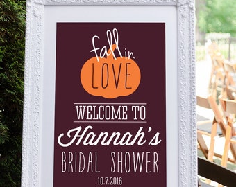 Fall Bridal Shower Sign, Engagement Party Decoration, Bridal Shower Welcome Sign, Wedding Shower Decoration, Fall Shower Decoration