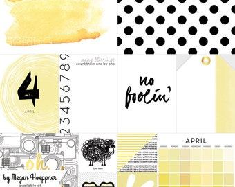 APRIL - These are Days Paper Set by Websters Pages
