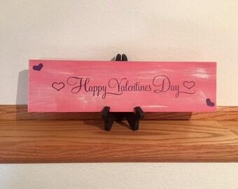 Happy Vanentine's Day Pink Sign