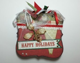 CHRISTMAS MINI ALBUM, home decor, photo book, mini albums, photo album