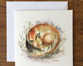 Fox - Woodland Animal Card