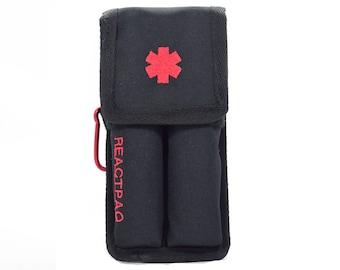 ReactPaq® - Epipen Case, Red Medical Emblem and Lettering, Double Shot Case