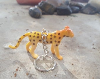 Free Shipping Cheetah Leopard Keychain  Great Stocking Stuffer