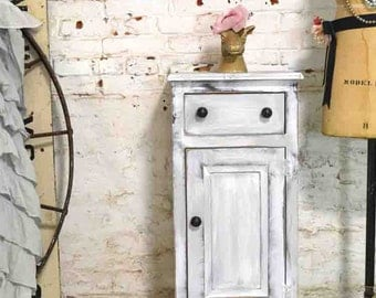 Painted Cottage Prairie Chic Chippy Hand Made Farmhouse Cabinet PR185