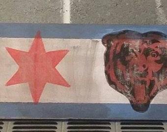 Chicago Bears , Chicago Flag Sign
