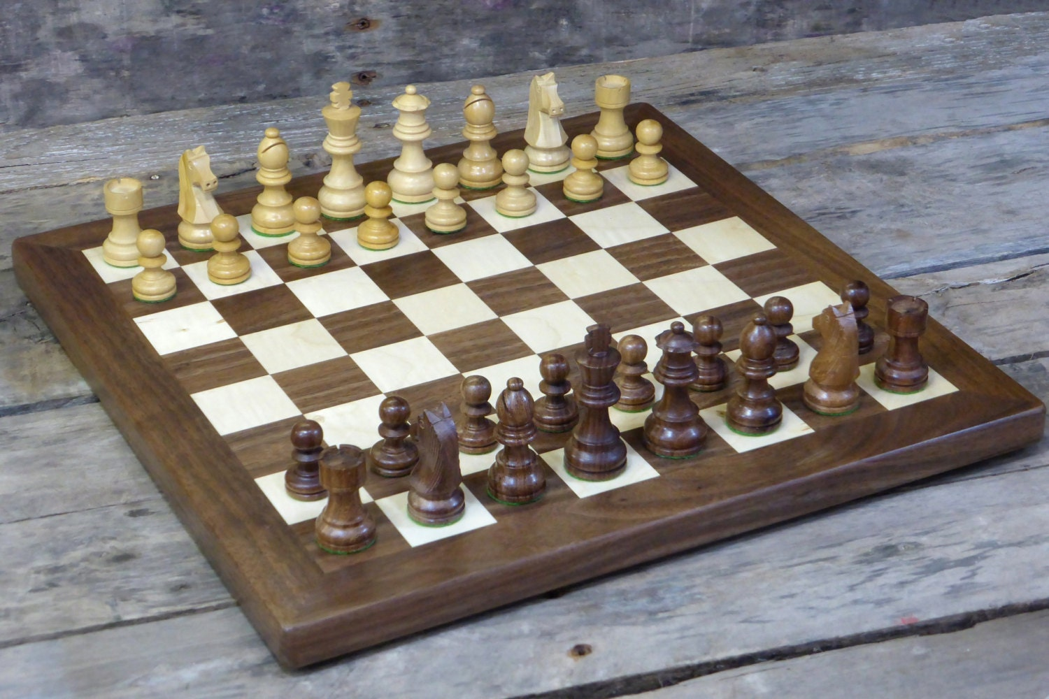 Wooden Chess Set Chess Board With Wooden Chess Pieces