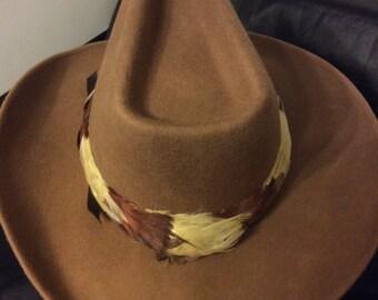 Distinctive ROCKMOUNT Ranch Wear Felt Wool Cowboy Hat