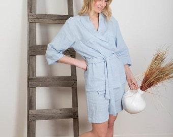 Linen Pajamas , Linen Sleepwear, Womens Linen Beachwear , Linen Pyjamas Pants and Shirt, Homewear, Linen Leisure wear