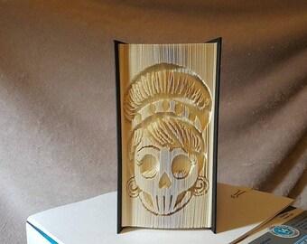 Sugar skull 2 book folding pattern