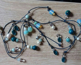 Dangly wrap crystal necklace