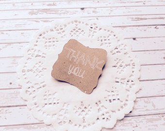10 Customizable Kraft paper adhesive labels