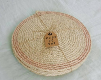 Natural  Rustic  Sisal Rope Placemats