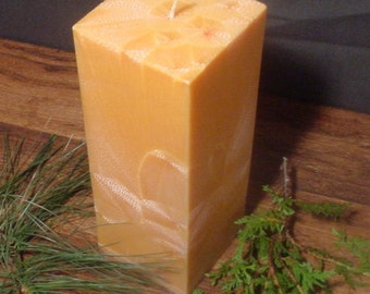 "3"" square palm wax pillar candle"