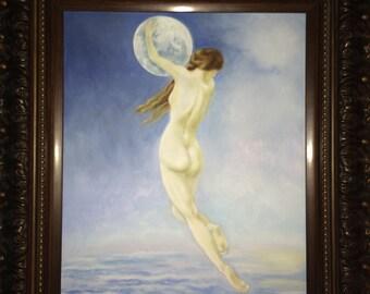 Woman Holding Moon