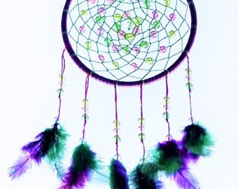 Purple and green dreamcatcher