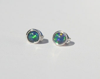 Australian Opal Studs
