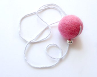 REFILL for cat wand -Natural felt wool, Pink, animalove