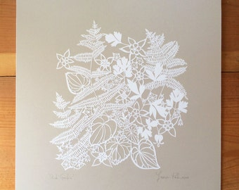 "Original Papercut ""Shade Garden"""
