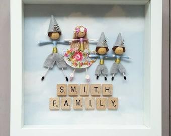 Framed fairy family