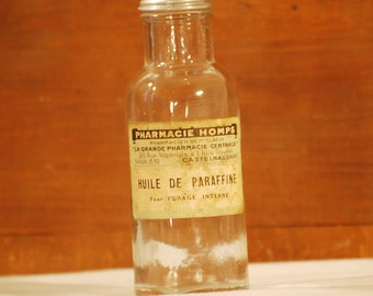 Bottle old paraffin - France