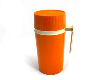 Vintage Orange Thermos - Insulated Jar