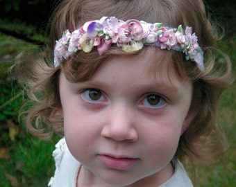 Custom Flower Girl Halos & Headbands
