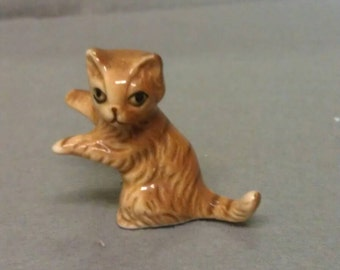 Brown and Beige Cat Figurine
