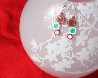 Handmade Quilling Earrings - Holiday Special Earrings; Multiple Colors Available