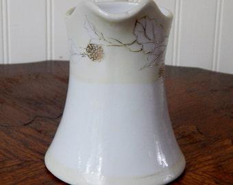 Vintage Gold Leaf Trimmed Creamer (Japan), Miniature Pitcher, Miniature Creamer