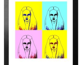 Pop Art Fashion Illustration Print
