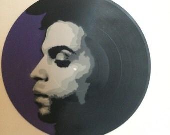 Prince. Handcut stencil and spraypaint on up ucled vinyl. Streetart. Urban art. Graffiti