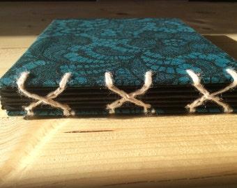 Pocket Cross Spine Paisley Book   Coptic Stitch   Sketchbook   Journal   Notebook