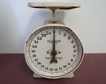 Vintage Hanson U.S.A. Utility Scale or Kitchen Scale 25 Pound Capacity