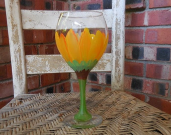 Sunflower Red Wine Glass - Ahhhhhh, Summer is Coming!