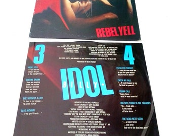 "Billy Idol Rebel Yell Vinyl Record 1983 Chrysalis 12"" From Canada VG +"