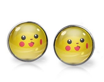 Pikachu Stud Earrings. Buy THREE get ONE free.