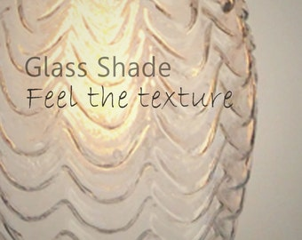 Clear glass shade - Glass shade for lighting fixtures - Glass shade - Accessory
