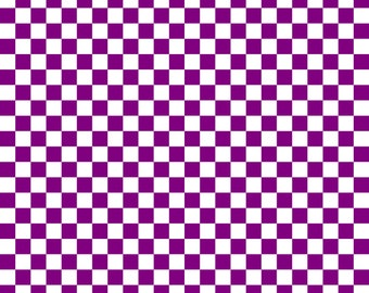 Purple Checkered Cardstock Paper