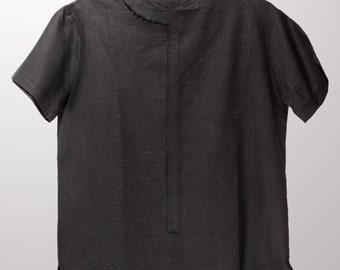 Mens Linen Shirt, Mens Black Shirt, Black Shirt for mens, Round Hemline Shirt, Mens Fashion, Mens shirts, Mens Tshirt, Gift for him, For Men