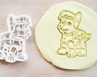 Chase Paw Patrol Cookie Cutter / Made From Biodegradable Material / Brand New / Party Favor Kids Birthday Baby Shower Cake Topper