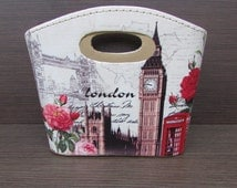 Shabby Leather Box Items, Vintage Jewelry Box, Box Old London, Room Decor, Vintage Items, Bag Accessories, Gift Idea for Woman