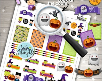 60%OFF - Halloween Stickers, Printable Planner Stickers, Halloween Pack, Kawaii Stickers, Planning Stickers, Planner Accessories