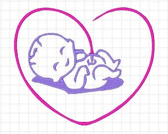 New Born Baby Embroidery Design 4x4,5x7 inches-Instant Download