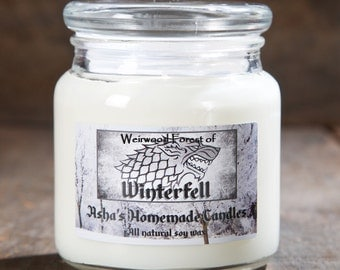 Game of Thrones Weirwood Forest of Winterfell Soy Candle | 16 oz. | All Natural Soy Wax | Geek Gift Idea