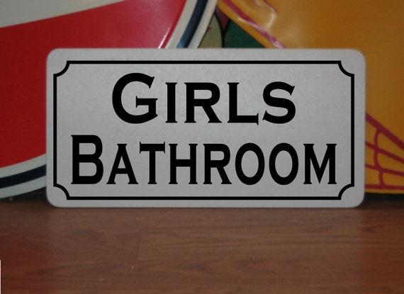 Girls Bathroom Decor: GIRLS BATHROOM ... Metal Sign For Farm Ranch Or Kitchen Decor