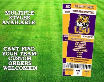 LSU Tigers Ticket Invitation