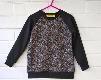 Girl's Liberty of London and Organic Cotton Bamboo Fleece Sweatshirt. Luxury Girl's Liberty Sweater
